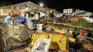 Katastrophe Zeltfest Sturm Zeltfest